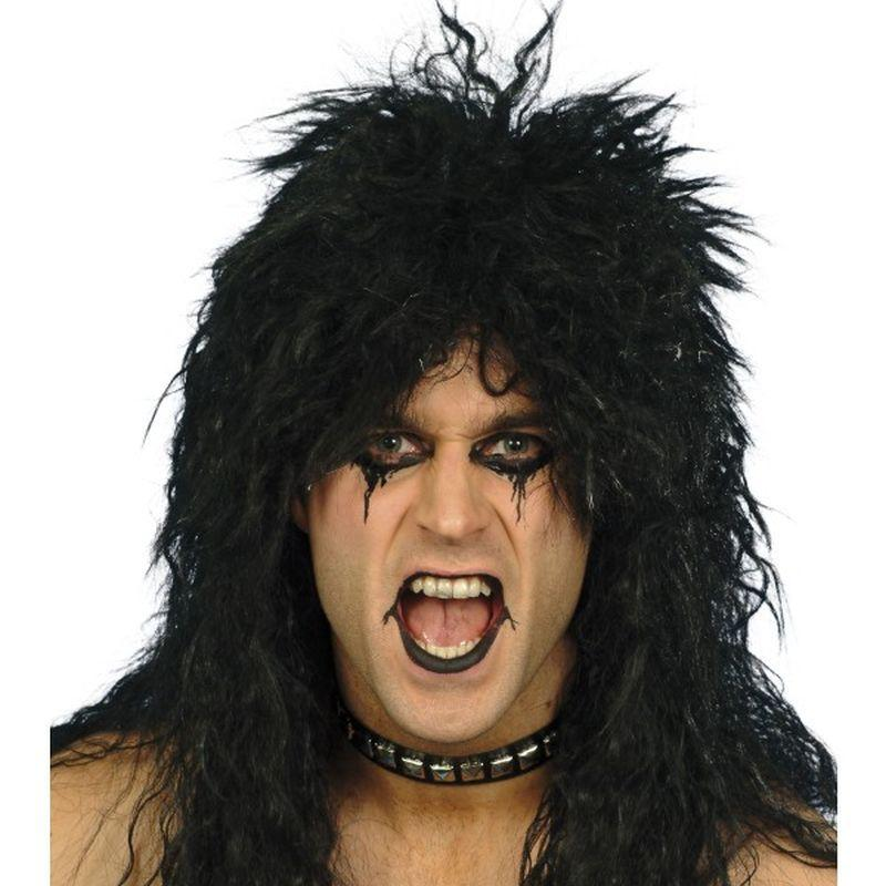 Hard Rocker Wig - One Size Mens Black