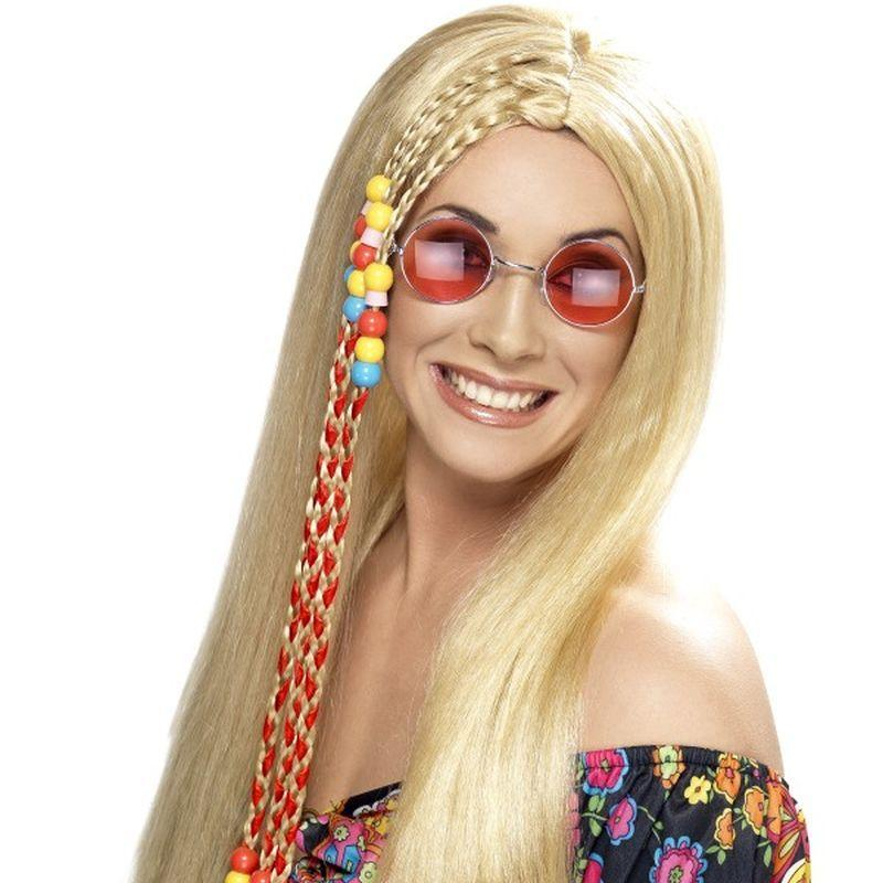 Hippy Party Wig - One Size Womens Blonde