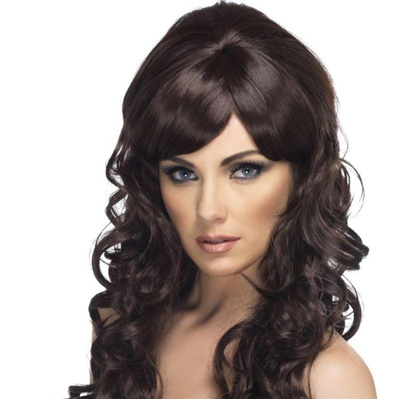 Pop Starlet Wig - One Size Womens Brown