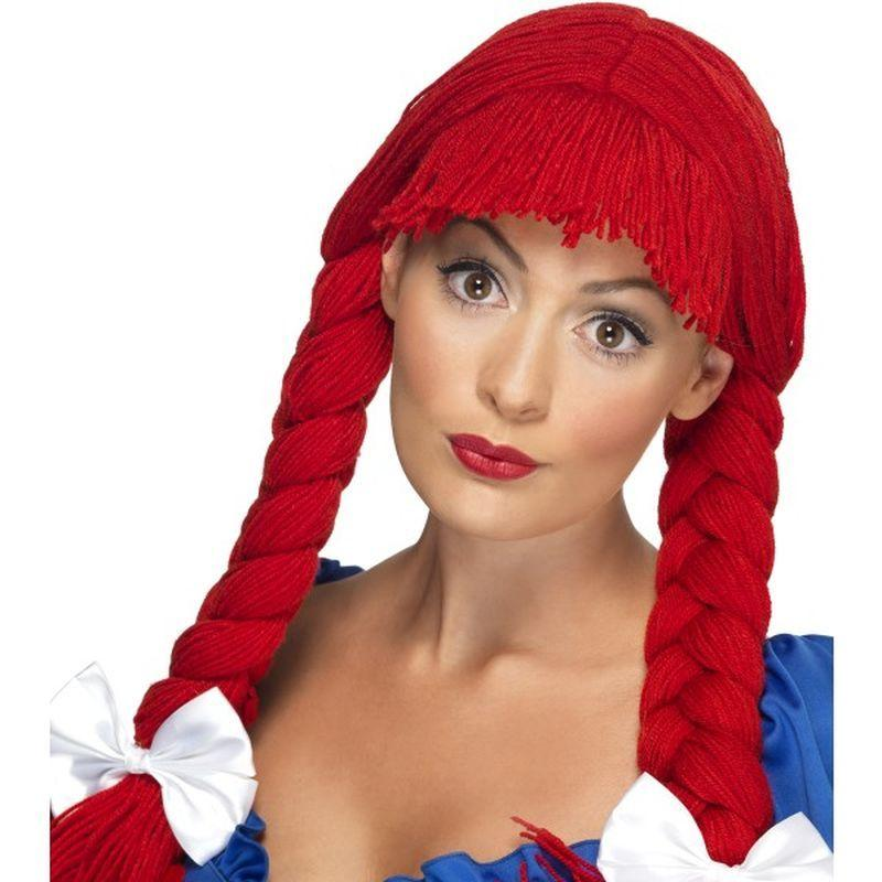 Rag Doll Wig - One Size Womens Red