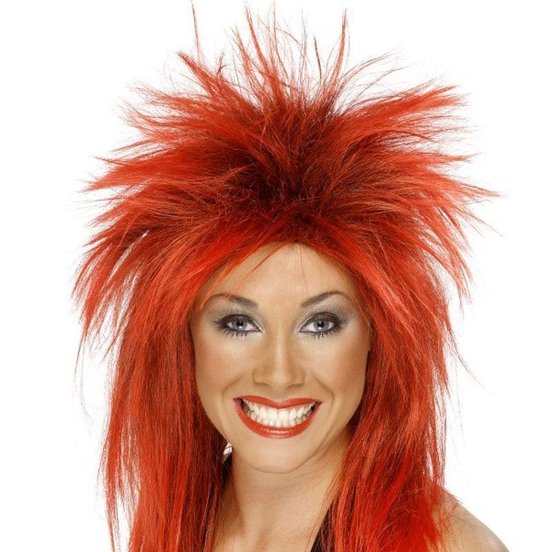Rock Diva Wig - One Size Womens Red