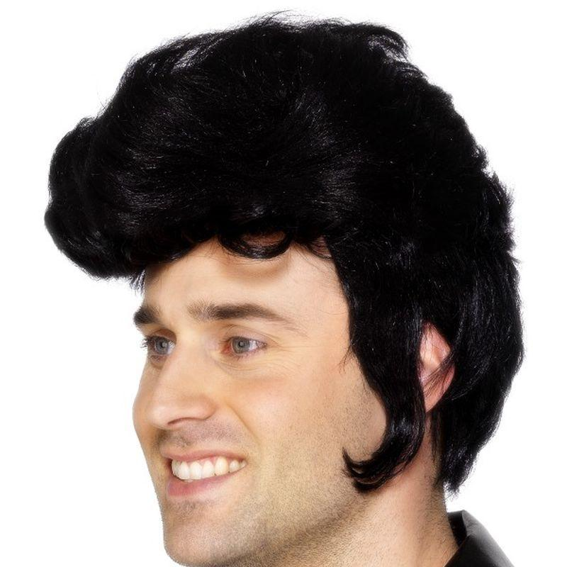 Rockstar Wig - One Size Mens Black