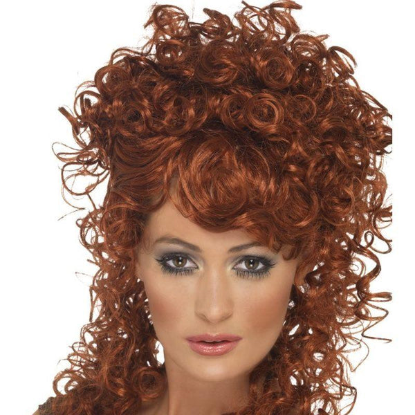 Saloon Girl Wig - One Size Womens Auburn