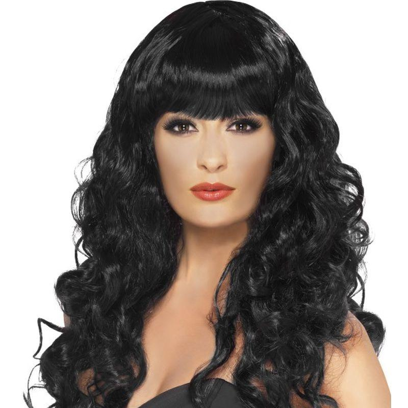 Siren Wig - One Size Womens Black