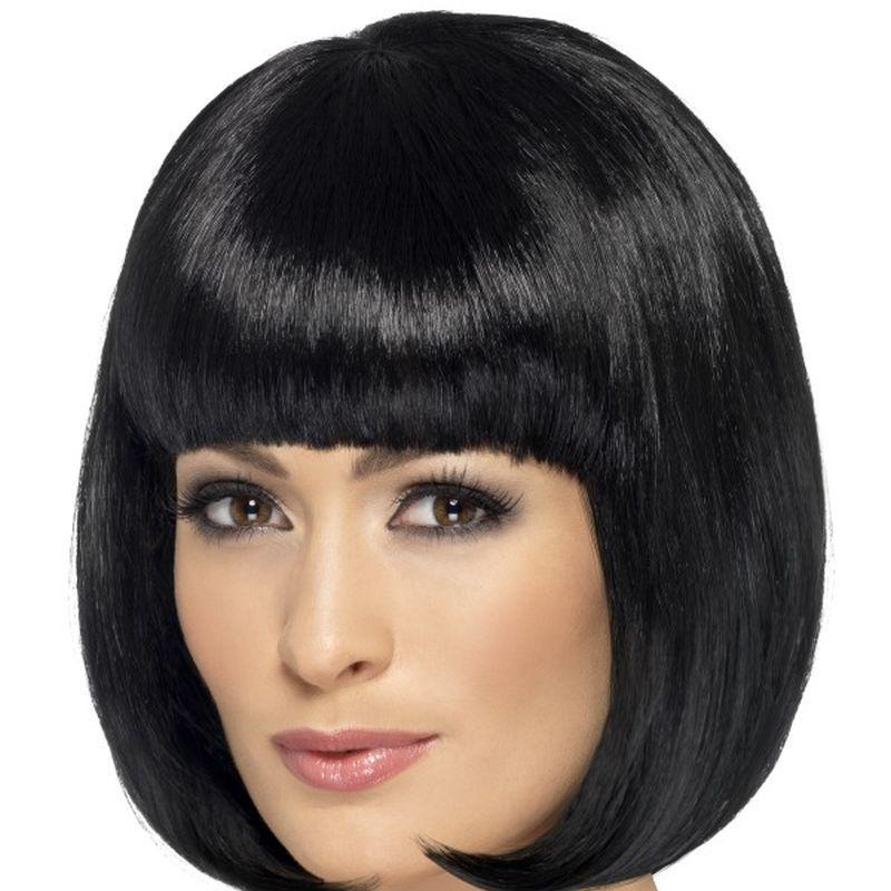 Partyrama Wig, 12 inch - One Size Womens Black