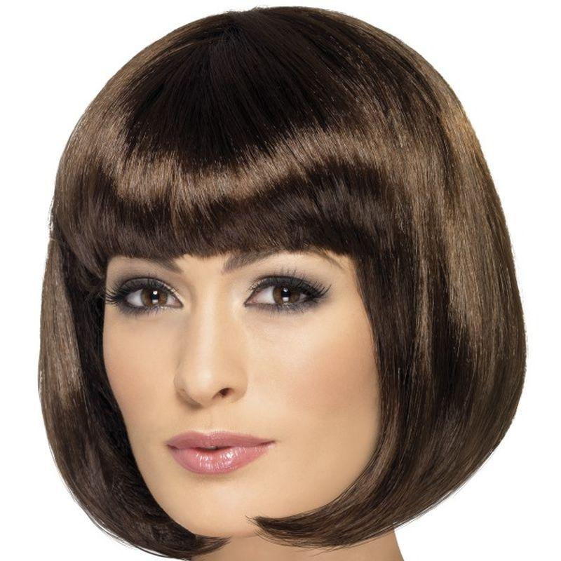 Partyrama Wig, 12 inch - One Size Womens Brown