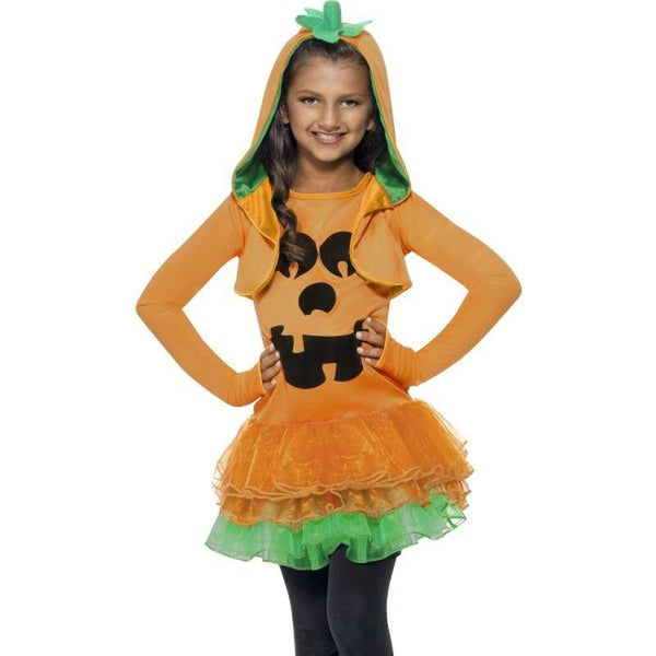 Pumpkin Tutu Dress Costume - Small Age 4-6 Girls Orange