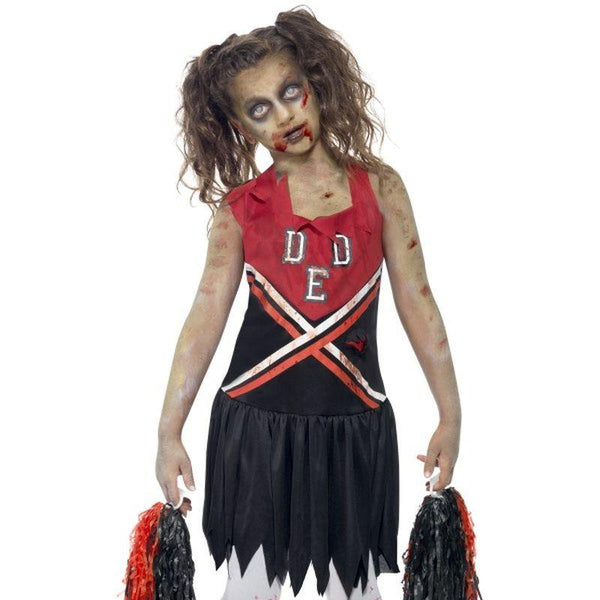 Zombie Cheerleader Costume - Teen 13+ Girls Red/Black