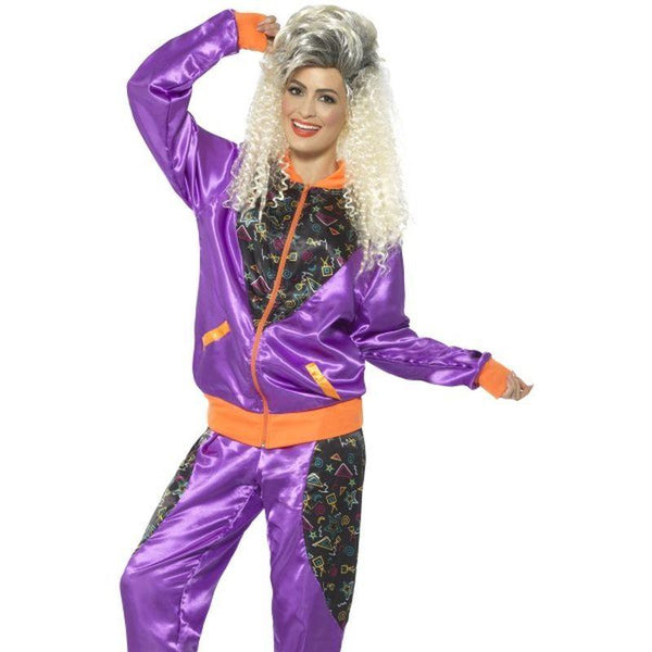 Retro Shell Suit Costume, Ladies - UK Dress 8-10