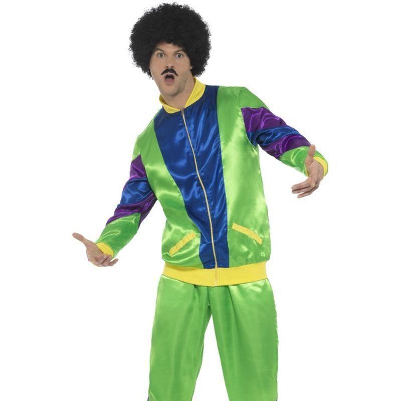 80's Height of Fashion Shell Suit Costume, Male - XL
