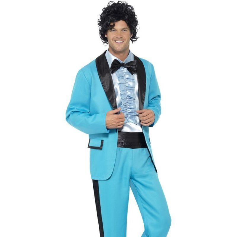 "80 's Prom King Costume - Chest 42""-44"", Leg Inseam 33"""