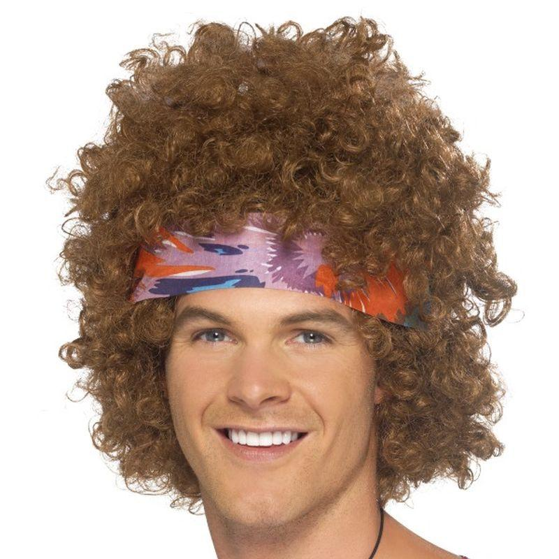 Hippy Afro - One Size Mens Brown