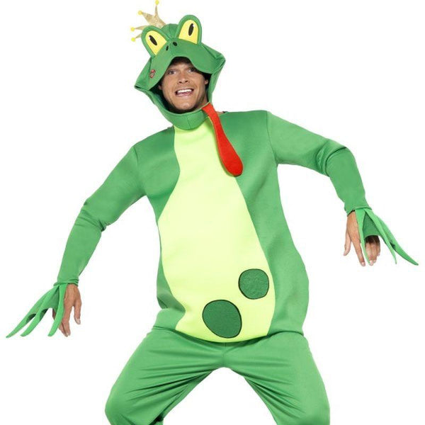 Frog Prince Costume, Top With Attached Gloves - One Size