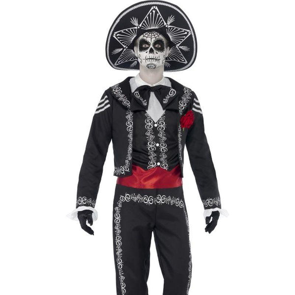 Day of the Dead Se±or Bones Costume - UK Dress 8-10