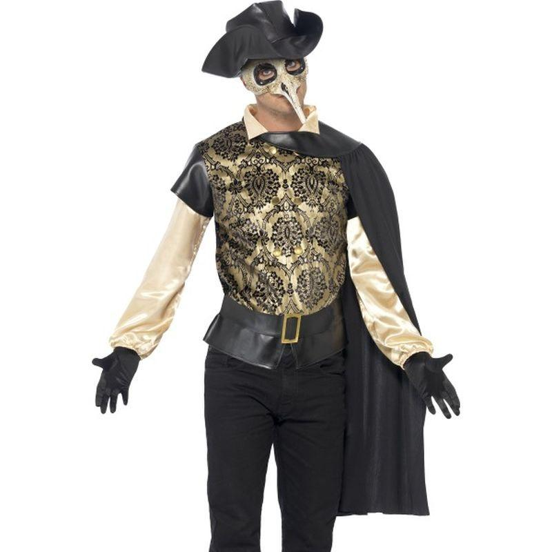 "Plague Doctor Costume - Chest 42""-44"", Leg Inseam 33"""