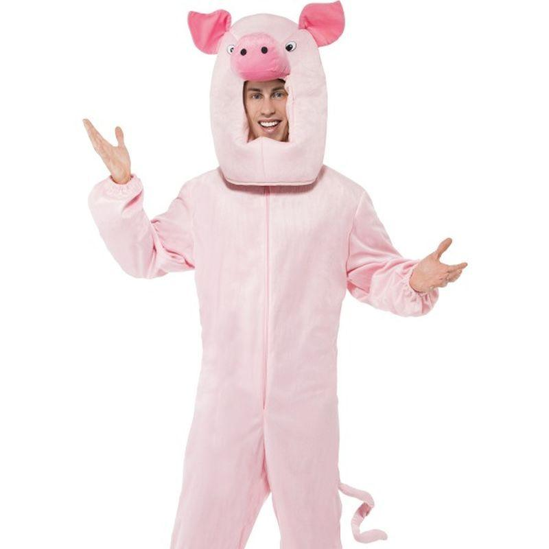 Pig Costume - One Size Mens Pink