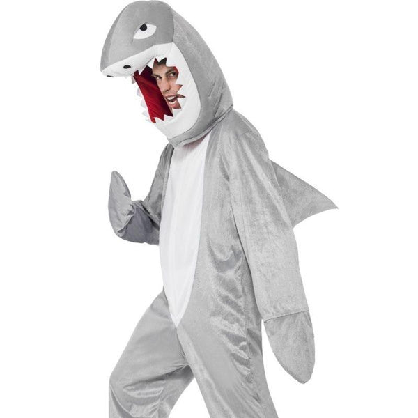 Shark Costume - One Size Mens Grey
