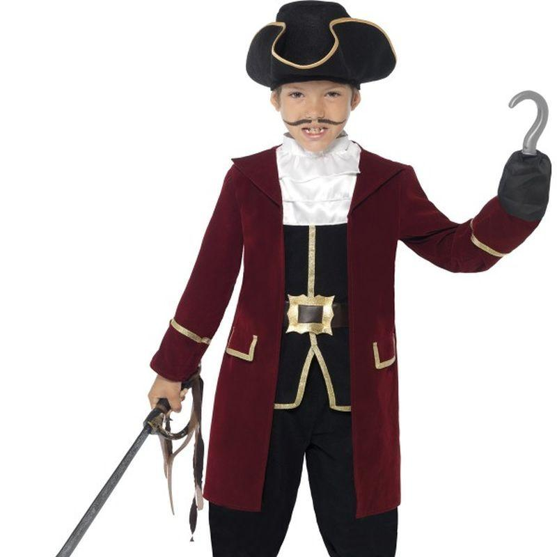 Deluxe Pirate Captain Costume, With Jacket - Small Age 4-6