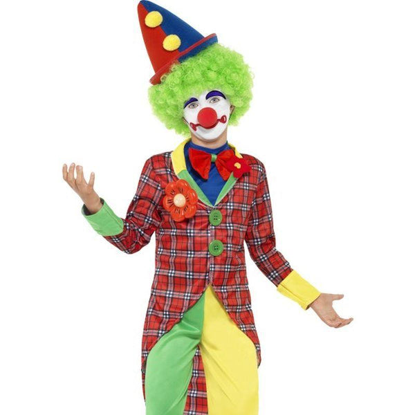 Clown Costume - Small Age 4-6 Boys Red/Green