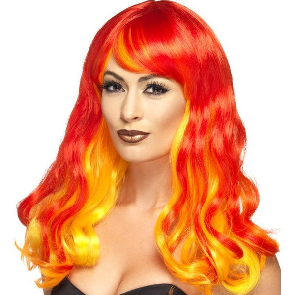 Ombre Wig, Devil Flame - One Size