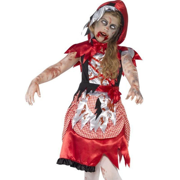 Zombie Miss Hood Costume - Small Age 4-6