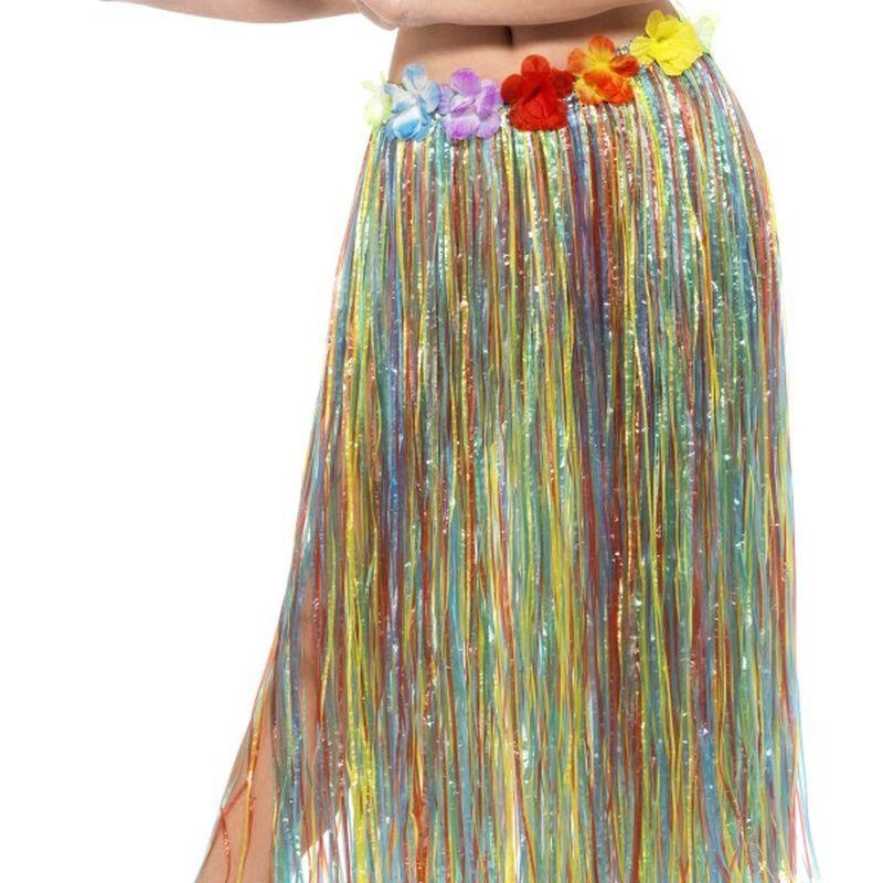 Hawaiian Hula Skirt with Flowers - One Size