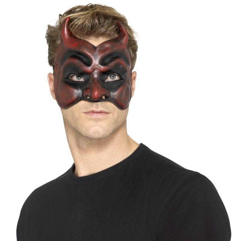 Masquerade Devil Mask, Latex - One Size