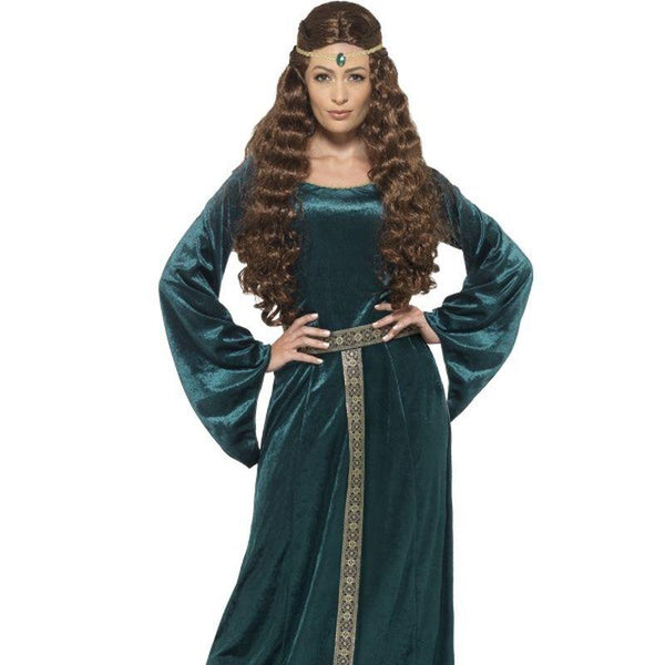 Medieval Maid Costume Adult Green