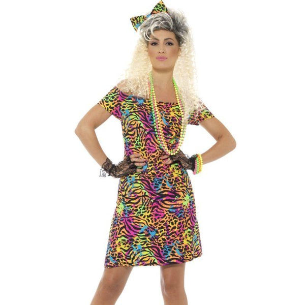 80's Party Animal Costume - UK Dress 8-10