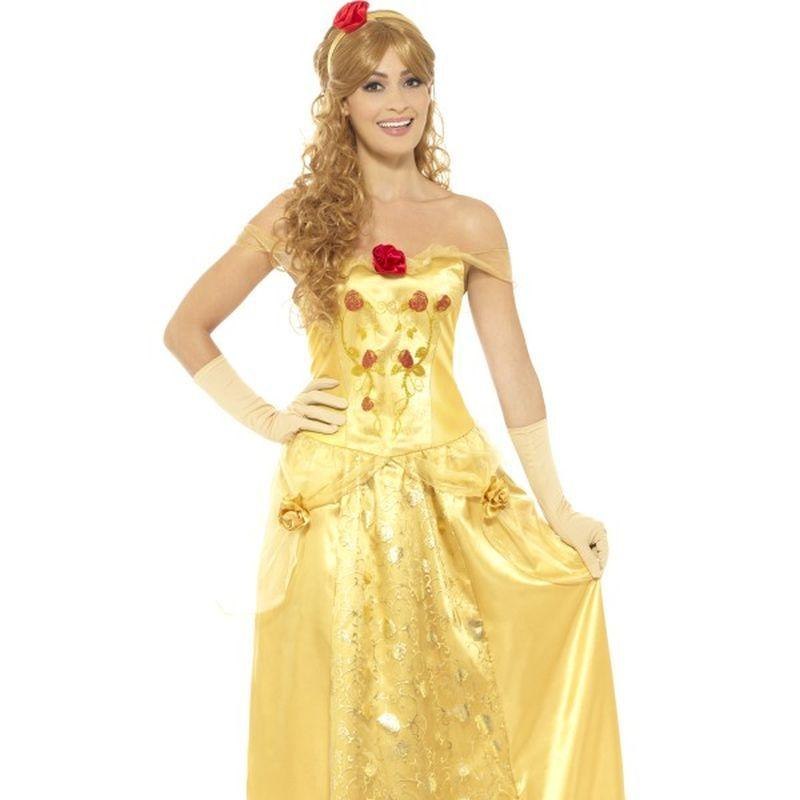 Golden Princess Costume - Uk Dress 8-10