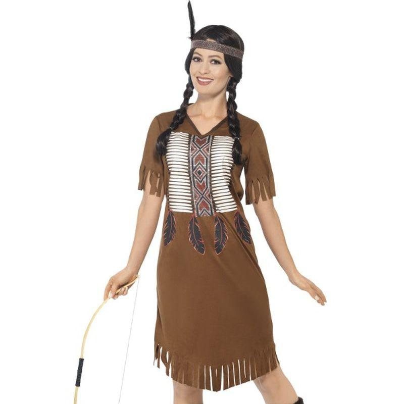 Native American Inspired Warrior Princess Costume Adult Brown