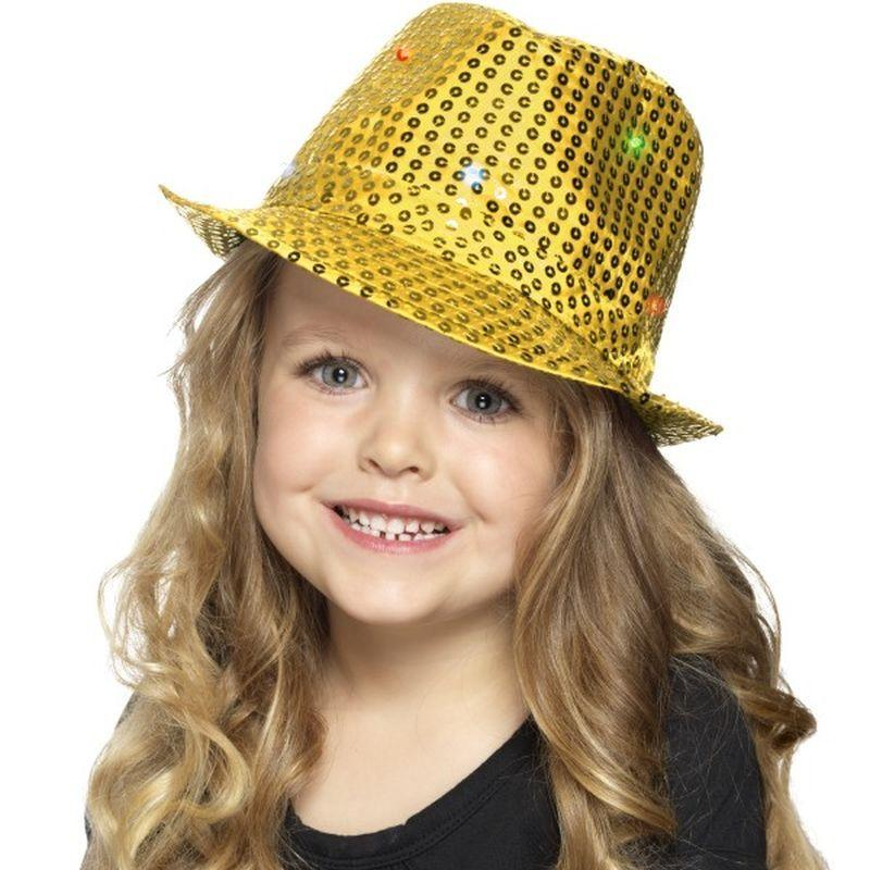 Light Up Sequin Trilby Hat - One Size