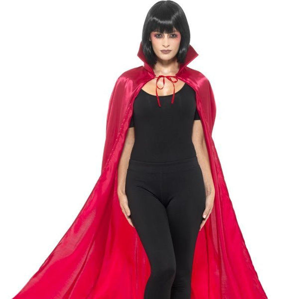 Satin Devil Cape - One Size