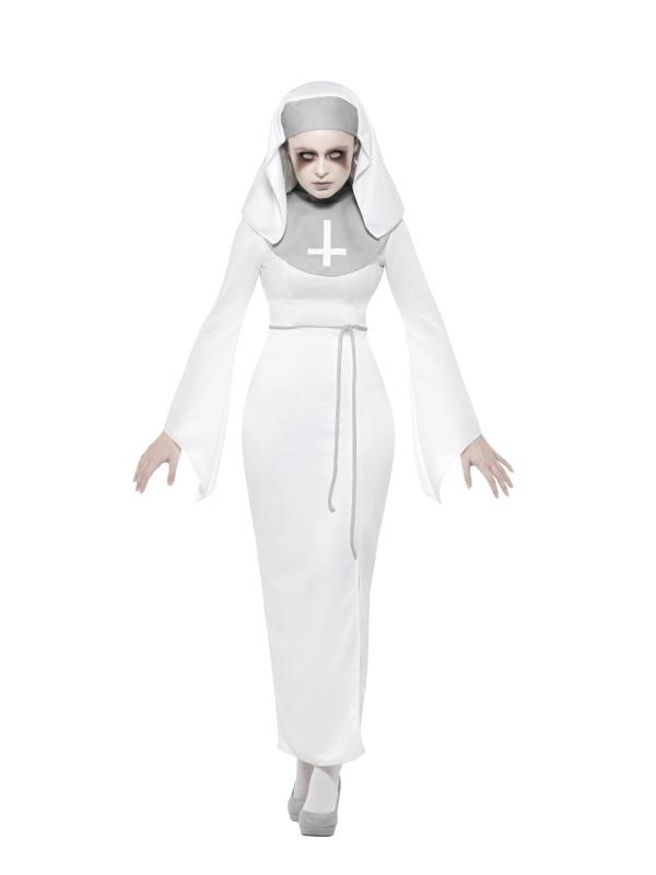 Haunted Asylum Nun Costume Adult White