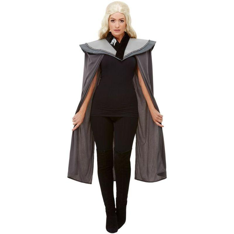 Ladies Medieval Cape Adult Grey