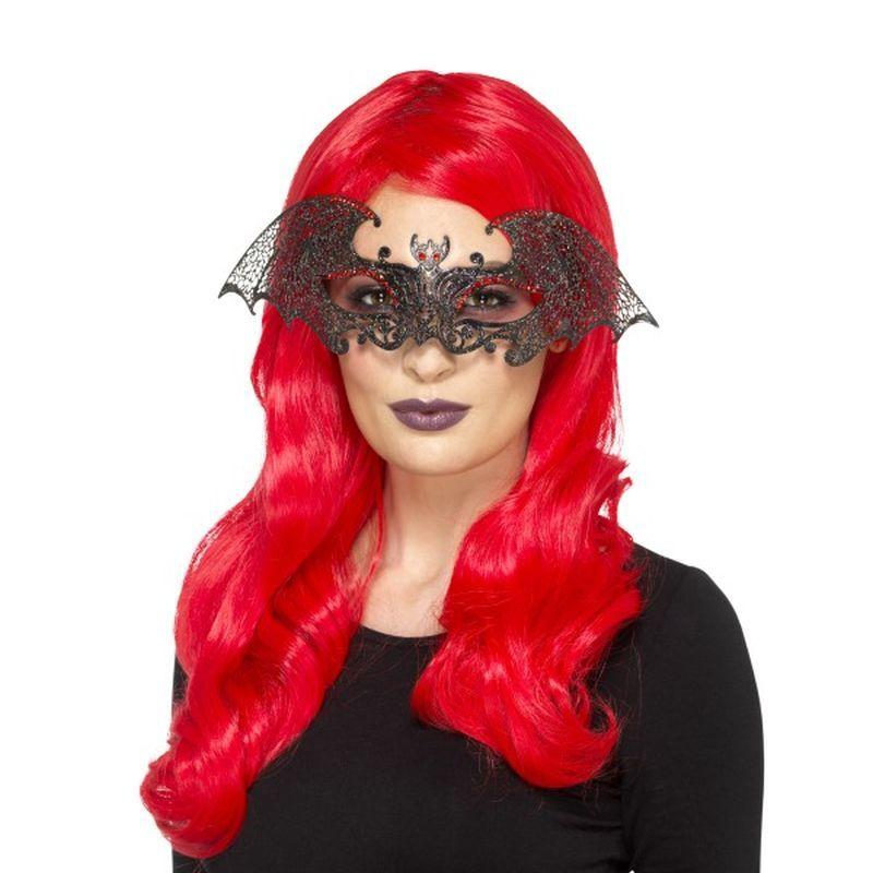 Metal Filigree Bat Eyemask - One Size