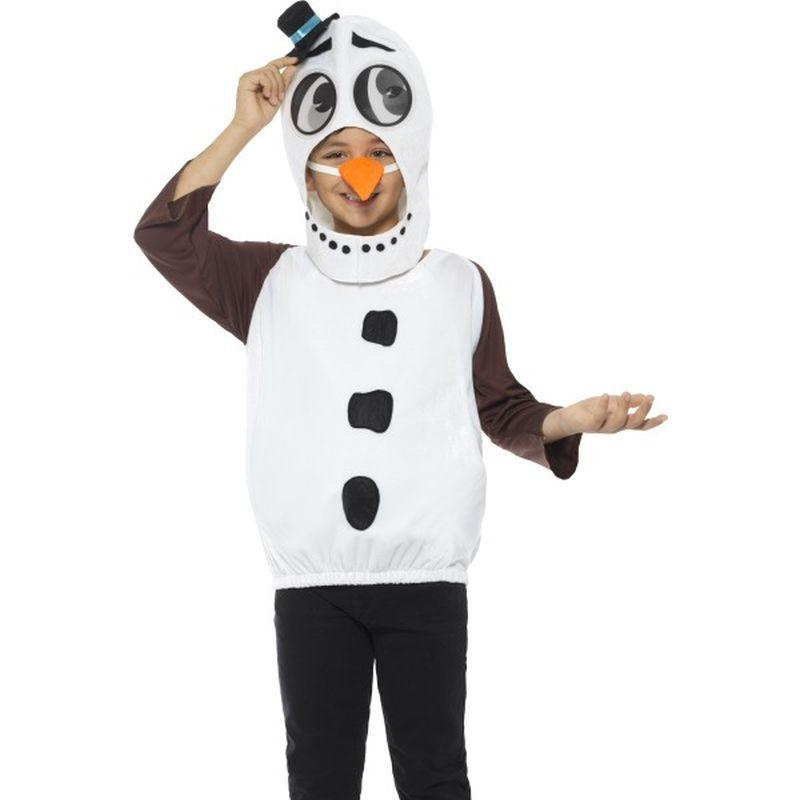 Snowman Costume, with Tabard, Carrot Nose - Small Age 4-6