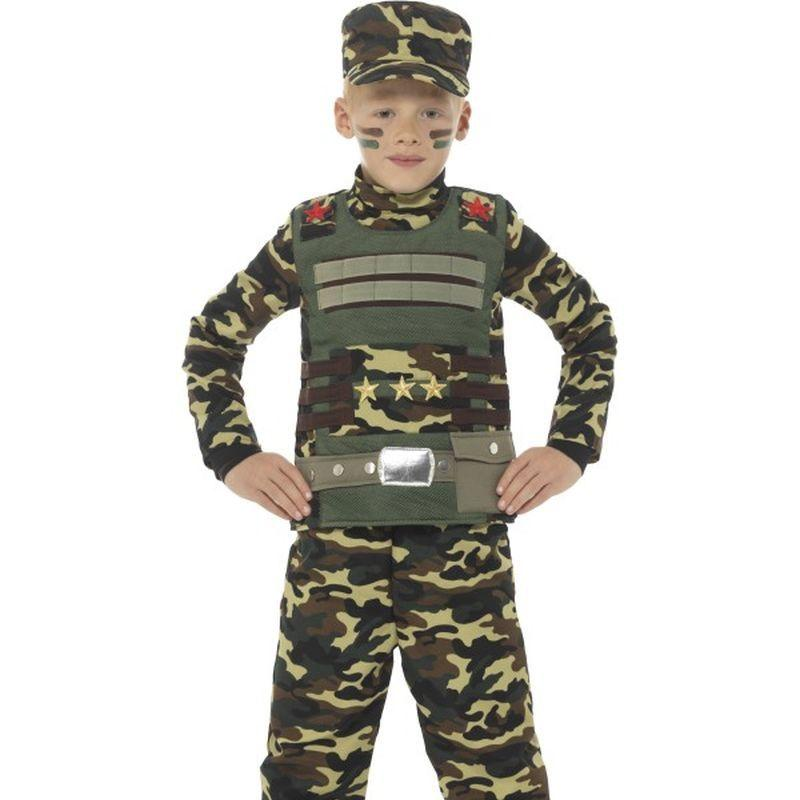 Camouflage Military Boy Costume Child Green