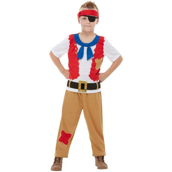 Horrible Histories Pirate Crew Costume Child Red