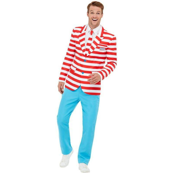 Where's Wally? Suit Adult Red / White