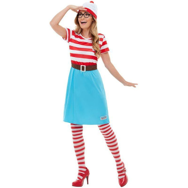 Where's Wally? Wenda Costume Adult Red / White