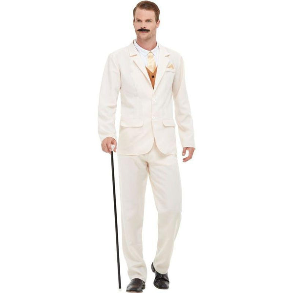 Roaring 20s Gent Costume Adult White