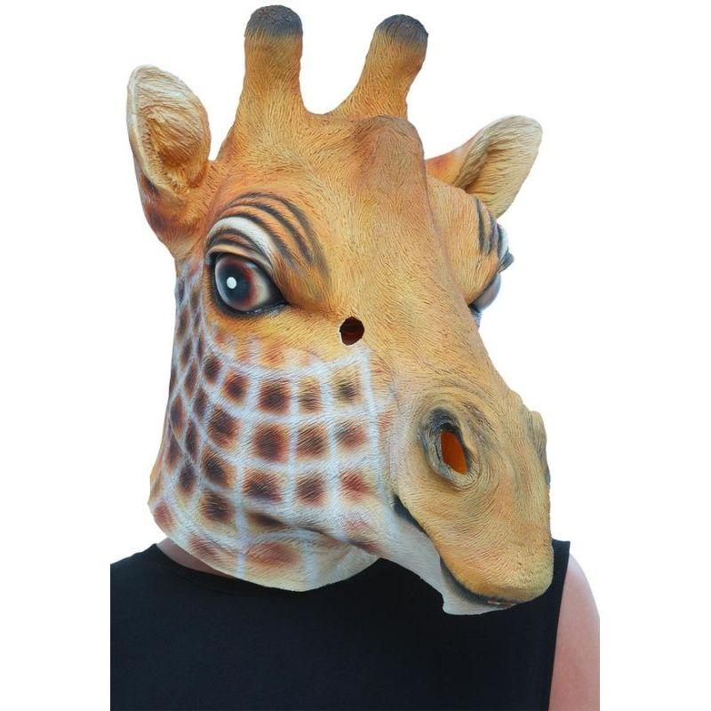 Giraffe Latex Mask Adult Brown