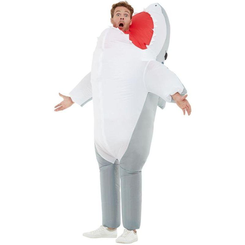 Inflatable Shark Attack Costume Adult Grey