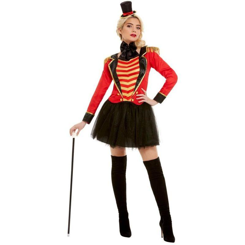 Deluxe Ringmaster Lady Costume Adult Red