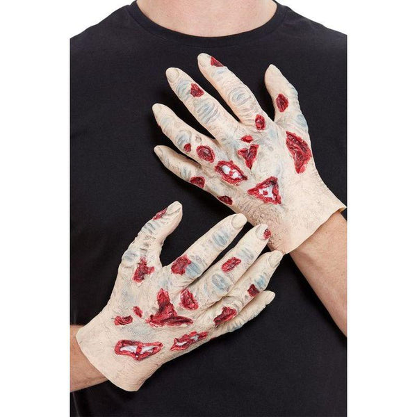 Zombie Latex Hands Adult Beige