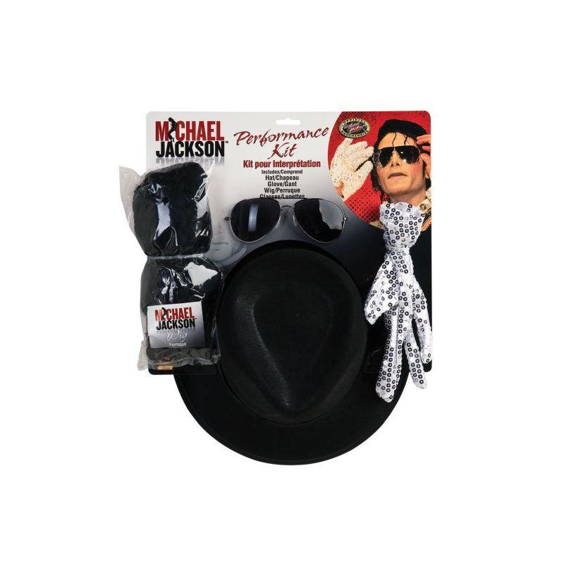 Michael Jackson Costume Accessory Kit With Wig