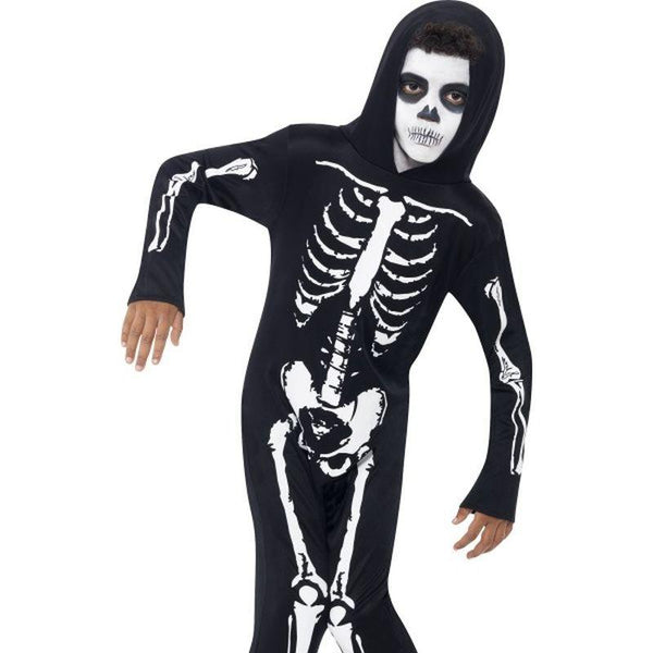 Skeleton Costume - Small Age 4-6 Boys Black