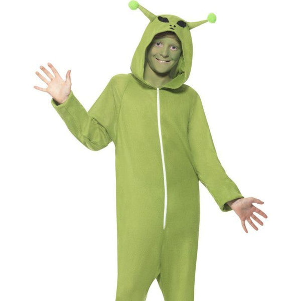 Alien Costume - Medium Age 7-9 Boys Green