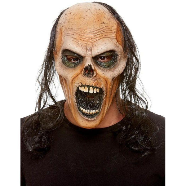 Zombie Latex Mask Adult Brown